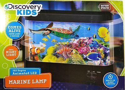 Discovery Kids Marine Lamp 360 Degree Animated Light Aquarium ~ Comes Alive ~New