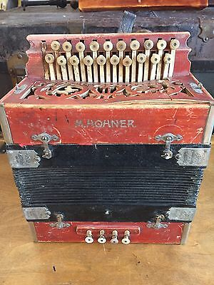 Antique M. Hohner Accordeon Made In Germany 1800s