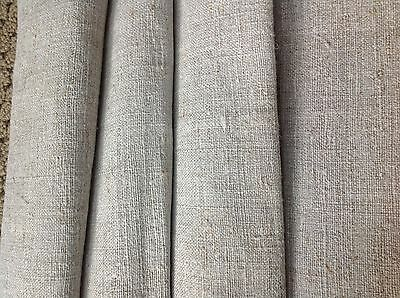 "Ca 1880 German linen/flax fabric finely handwoven natural 99.5"" long"