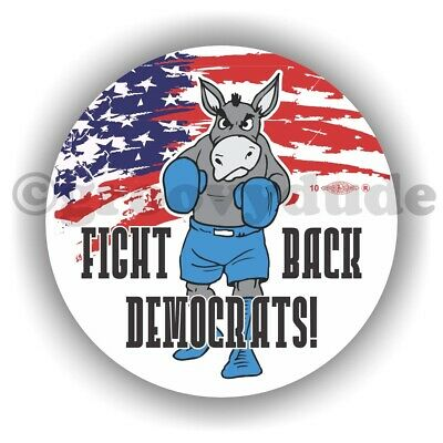 2 Fight Back Democrats Political Democratic Party Donkey Flag Pin Pinback Button