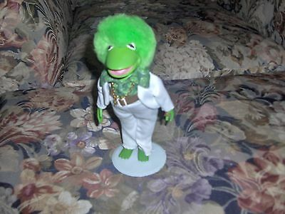 Brass Key Keepsakes Kermit the Frog Retro Collection Porcelain Doll & Stand