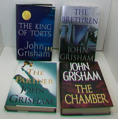 Lot/4 John Grisham Books Hardcover 1st Editions with Dust Jackets Excellent