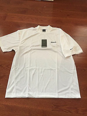 Brand New Dewar's Scotch Nike Dri-Fit Mock Polo Golf Shirt Size Xl