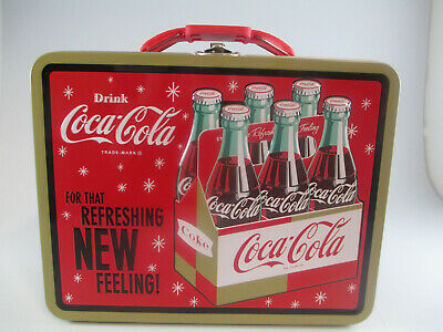 "Coca-Cola Tin Lunch Box ""For That  Refreshing NEW Feeling"" - BRAND NEW"
