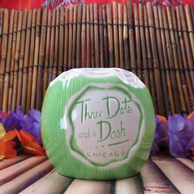 Three Dots And A Dash Green Coconut Tiki Mug Tiki Farm Swizzle Napkin Coaster