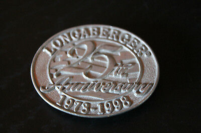 Longaberger Pewter Magnet - Longaberger 25th Anniversary 1973-1998 Oval