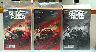 Ghost Rider #1 Dell'Otto Color / B&W / Virgin Limited 3000/1500/500 Variant
