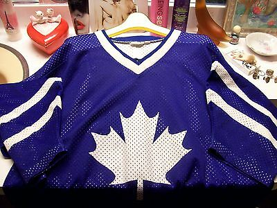 men's XL rare Powerade Maple Leafs hockey jersey by High 5 promotional item NICE