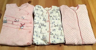 BABY Girl NEXT sleepsuit babygrow bundle first size / 1 month