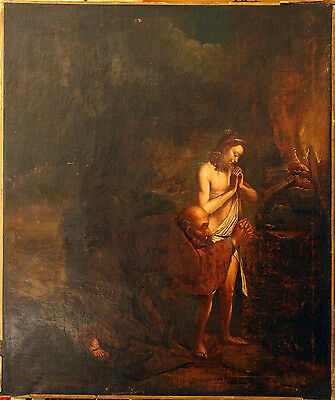 Antique oil painting. Old Master painting.
