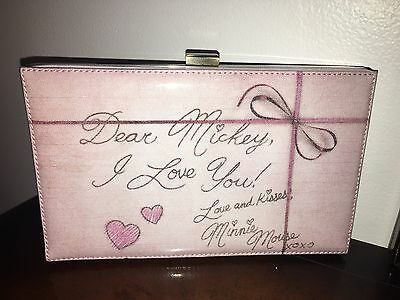 Disney Couture Parks Exclusive Minnie Mouse Love Letters Clutch Purse NWT Mickey