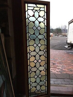 "Sg 1106 Antique Stainglass Transom Window 15 3/4"" By 57 1/2"