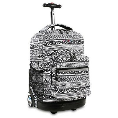 "J world Sunrise 18"" Rolling Backpack With Locking Handle (Tribal) RBS-18"