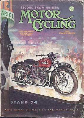 The MotorCycling Magazine 15th Nov 1951 Second Show Number BSA Ariel Norton
