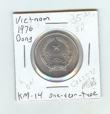 Vietnam 1976 Dong, scarce one year type, uncirculated.