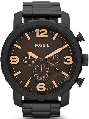 Fossil Men's JR1356 Nate Chronograph Stainless Steel Watch