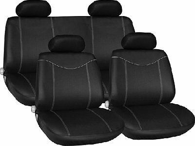 New For Citroen C2 Full Car Seat Cover In Black With Red Stitching