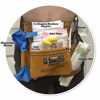 Daddy's Survival / Emergency Tool Belt Nappy Kit