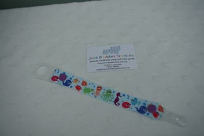 Dummies Clips ,Holder/Dummy/Soother/Pacifier/chain Sea Life