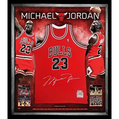 Michael Jordan Hand Signed Jersey Chicago Bulls Nba Air Jordan