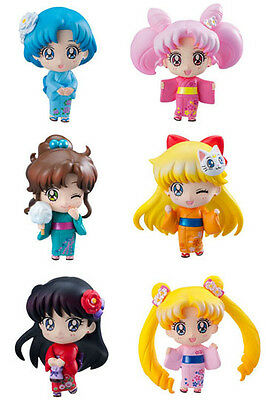 Official Sailor Moon Petit Chara Festival Trading 6-Pack Figurines - 6cm