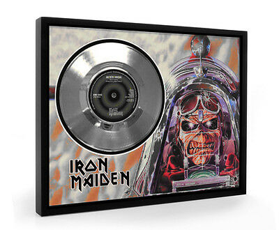 Iron Maiden Aces High Framed Silver Disc Display Vinyl (C1)