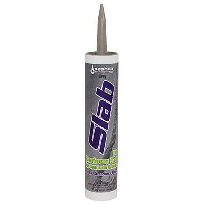 Sashco Slab Concrete Crack Repair Sealant, 10.5 oz Cartridge, Gray Pack of 1