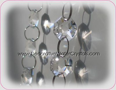 2x100cm Crystal Glass Chain Lamp Part Prism Wedding Centerpiece DIY