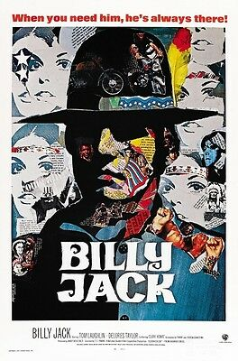 Billy Jack POSTER **AMAZING DESIGN** Tom Laughlin -  Psychedelic Colors