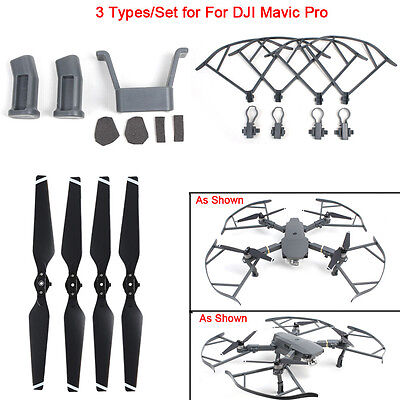 For DJI Mavic Pro Drone Heightened Landing Gear&Protector Guard&Propellers Blade