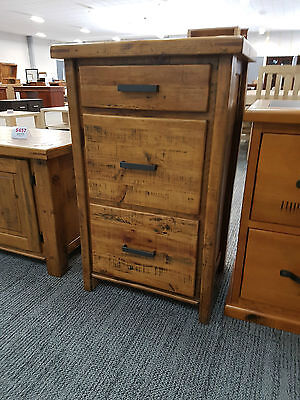 RRP$349 Woolshed 3 Drawer Timber Filing Cabinet FACTORY DIRECT