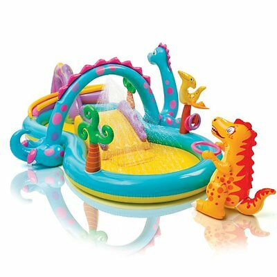 Intex Swimming Pool Dinoland Play Center Inflatable With Kiddie Slide Wading