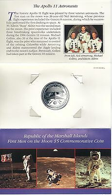 $5.Marshall Islands 1989 - 20th Anniversary - First Men on the Moon Apollo 11
