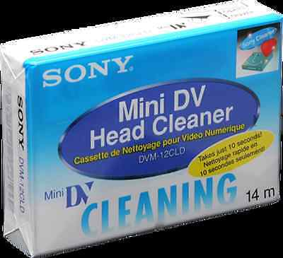 "Sony DVM-12CLD Mini DV Head Cleaner -""New in Sealed"""