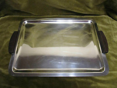 1925 french Silver plated serving tray / tea tray Alfenide Christofle art deco
