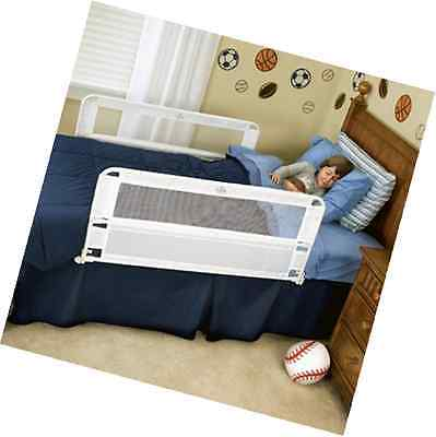 Regalo Hide Away Double Sided Bed Rail Safety Child Toddler Queen Twin White New