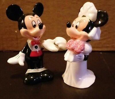 Disney Mickey and Minnie Mouse Bride and Groom Salt and Pepper Shakers