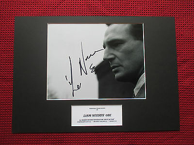 Liam Neeson Actor Genuine Personally Hand Signed A3 Mounted Photo Display - Coa