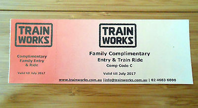 Trainworks at Thirlmere Family Combo Pass - Valid until July 2017