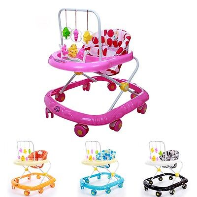 Baby's Walker Rollover Prevention Toddler First Steps Musical Activity Toys Hot