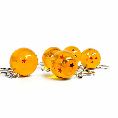 Dragon Ball Z Dragon Ball Keychain (Complete Set of All 7 DBZ) FREE SHIPPING!!