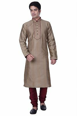 Readymade Ethnic Wedding Designer Indian Kurta Bollywood Men's Sherwani Churidar