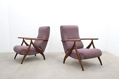 Coppia poltrone anni 50 Paolo Buffa mid century recliner armchairs fauteuils