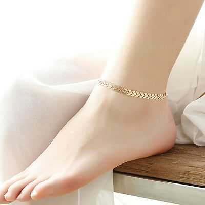 Jewelry Accessories Girl Beach Women Gold Plated Arrow Anklet Foot Chain