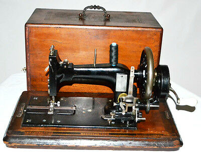 19C Frister & Rossmann Mother of Pearl Inlaid Hand Crank Sewing Machine [PL2862]