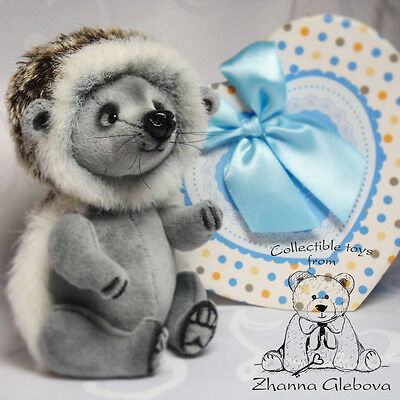OOAK teddy Hedgehog Richy 5.1 in