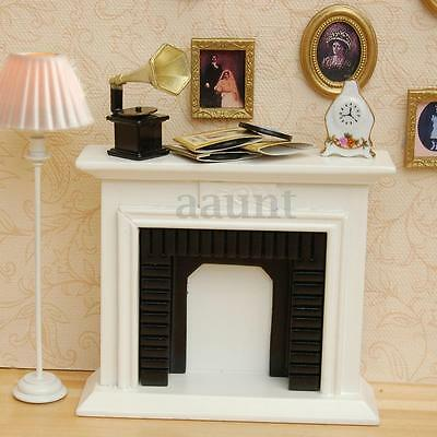 1/12 Scale Miniature White Fireplace Dollhouse Home Decor Furniture Accessories