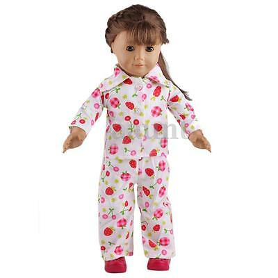 New Pajamas Nightgown Clothes Fits for 18 Inch Our Generation American Girl Doll