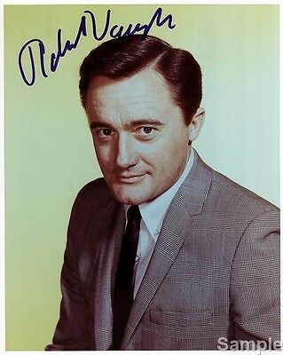 Robert Vaughn - Napoleon Solo - Man from UNCLE Signed Autograph Preprint Photo