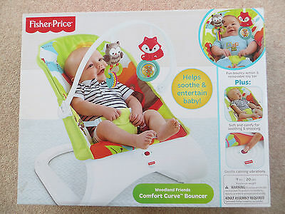 Fisher Price Woodland Friends Baby Bouncer Excellent Condition with Box